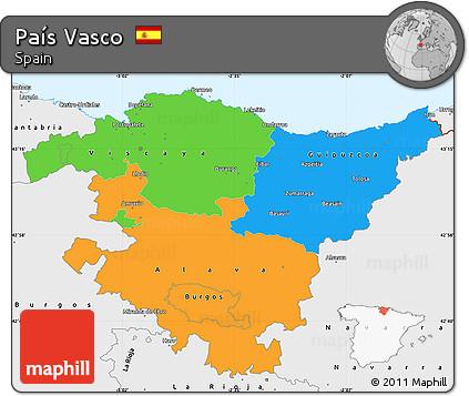 Free Political Simple Map Of Pais Vasco Single Color Outside