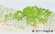 Physical 3D Map of Viscaya, lighten