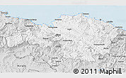 Silver Style 3D Map of Viscaya