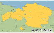 Savanna Style Simple Map of Viscaya