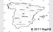 Blank Simple Map of Spain, cropped outside