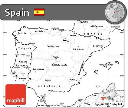 Free Printable Map Of Spain.Free Blank Simple Map Of Spain