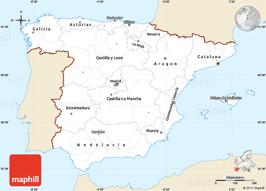 Map Of Spain For Coloring.Map Of Spain To Color Twitterleesclub