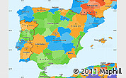 Political Simple Map of Spain