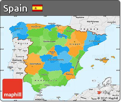 Map Of Spain To Label.Map Of Spain To Label Twitterleesclub