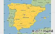 Savanna Style Simple Map of Spain