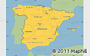 Savanna Style Simple Map of Spain, single color outside
