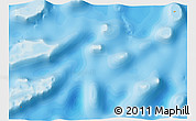 Political Shades 3D Map of Spratly Islands