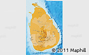 Political Shades 3D Map of Sri Lanka