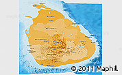 Political Shades Panoramic Map of Sri Lanka