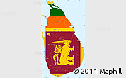 Flag simple map of sri lanka flag rotated for Sri lanka flag coloring page
