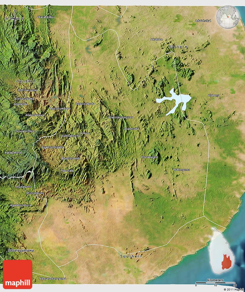 Satellite D Map Of Uva - Uva map