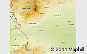Physical 3D Map of Southern Darfur
