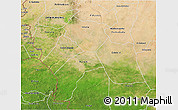 Satellite 3D Map of Southern Darfur