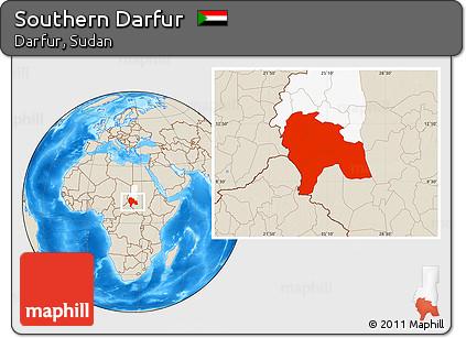 Darfur Region Map on
