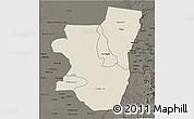 Shaded Relief 3D Map of Kassala, darken