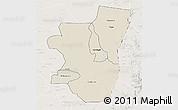Shaded Relief 3D Map of Kassala, lighten