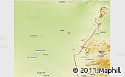 Physical Panoramic Map of Kassala