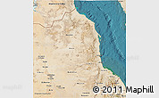 Satellite 3D Map of Red Sea
