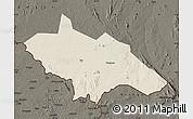 Shaded Relief Map of Yei, darken