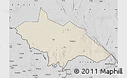 Shaded Relief Map of Yei, desaturated