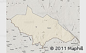 Shaded Relief Map of Yei, semi-desaturated