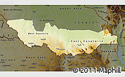 Physical Map of Equatoria, darken
