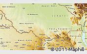 Physical Map of Equatoria