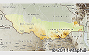 Physical Map of Equatoria, semi-desaturated
