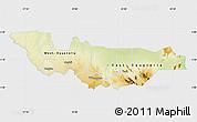 Physical Map of Equatoria, single color outside