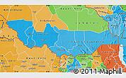 Political Shades Map of Equatoria