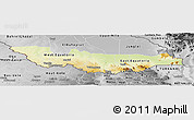 Physical Panoramic Map of Equatoria, desaturated