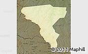Physical Map of Tambura, darken