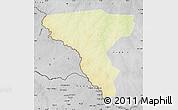 Physical Map of Tambura, desaturated
