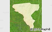 Physical Map of Tambura, satellite outside