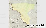 Physical Map of Tambura, semi-desaturated