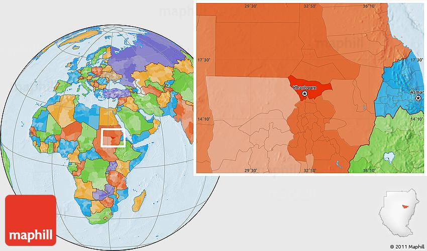 Political Location Map of Khartoum on barcelona location on world map, stockholm location on world map, red sea location on world map, united states location on world map, bangalore location on world map, warsaw location on world map, frankfurt location on world map, melbourne location on world map, athens location on world map, mogadishu location on world map, mexico city location on world map, vancouver location on world map, bogota location on world map, lagos location on world map, santo domingo location on world map, toronto location on world map, santiago location on world map, hong kong location on world map, brussels location on world map, auckland location on world map,