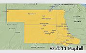 Savanna Style 3D Map of Northern