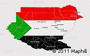 Flag Panoramic Map of Sudan