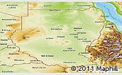 Physical Panoramic Map of Sudan