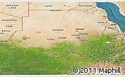 Satellite Panoramic Map of Sudan
