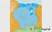 Political Shades Map of Suriname