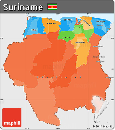 map of suriname 100 images outline map suriname