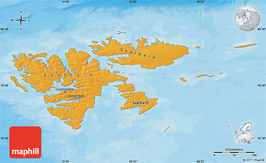 Political Map of Svalbard