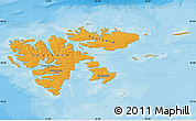 Political Shades Map of Svalbard