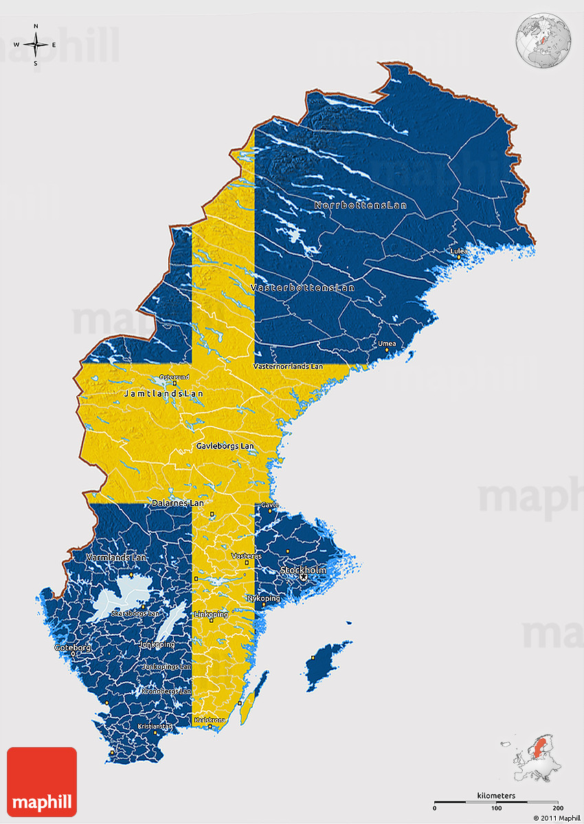 D Map Of Sweden With Galaxy Map - Sweden map 3d
