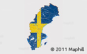 Flag 3D Map of Sweden