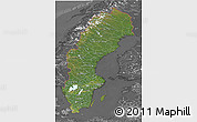 Satellite 3D Map of Sweden, desaturated