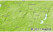 Physical 3D Map of Boras Kommun