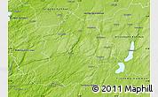Physical Map of Boras Kommun